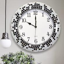 DEVY 現代簡約石英大號靜音掛鐘 歐式美式大氣鐘表客廳創意時鐘