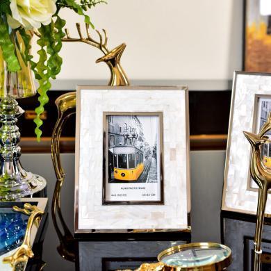 DEVY 簡約現代貝殼個性創意組合相框婚紗照擺臺相架相框6寸7寸