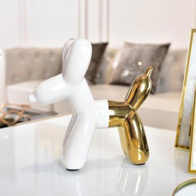 DEVY 北歐創意ins風裝飾品氣球狗陶瓷家居小擺件現代簡約客廳酒柜