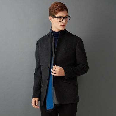 狄亞諾男士羊毛呢子大衣 男立領商務休閑呢子大衣外套 秋冬裝新款 215251
