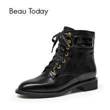 BT 马丁靴女秋冬季皮平底短靴女英伦风靴子女鞋03116
