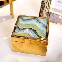 DEVY欧式轻奢卧室梳妆台首饰盒美式创意家居样板房收纳盒装饰摆件