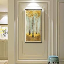 DEVY 欧式客厅装饰画餐厅玄关单幅挂画美式沙发背景墙大气壁画