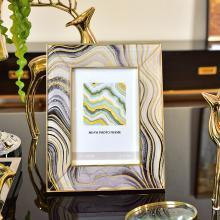DEVY 欧式创意相框摆台现代轻奢玻璃照片框组合6寸7寸装饰摆件