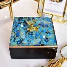 DEVY欧式创意家居卧室梳妆台收纳盒首饰盒摆件样板房间装饰品摆设