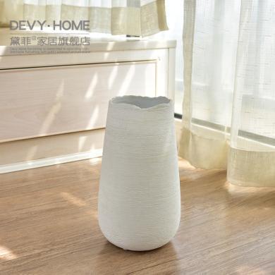 DEVY简约现代陶瓷花瓶摆件 欧式客厅餐桌水培插花器家居软装饰品