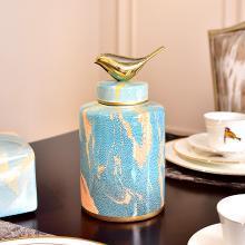 DEVY新中式家居樣板間客廳餐廳陶瓷花瓶花器歐式收納罐插花器擺件