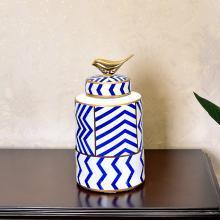 DEVY現代家居樣板房陶瓷花瓶擺件新中式創意客廳玄關儲物罐裝飾品