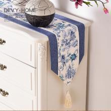 DEVY 新中式桌旗中式茶席布艺茶桌现代旗茶几餐桌餐垫桌布中国风