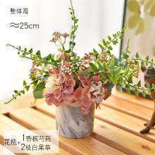 DEVY 歐式輕奢仿大理石水培陶瓷小花瓶 客廳玄關餐廳插花器擺件