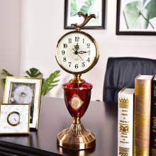 DEVY 欧式古典时钟座钟客厅 美式轻奢桌面摆钟台式钟表创意摆件