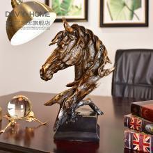 DEVY美式复古创意马头摆件家居饰品工艺品客厅样板房摆设结婚礼物