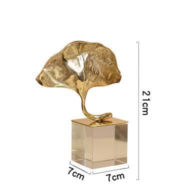 DEVY歐式銅水晶擺件家居裝飾品現代簡約客廳書房辦公室工藝品擺設