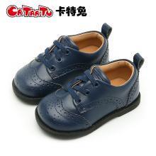 卡特兔女童皮鞋2018新款男童韩版女宝宝小皮鞋英伦风软底公主鞋子