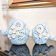 DEVY现代简约创意情侣摆件欧式客厅酒柜电视柜装饰摆件结婚庆礼物