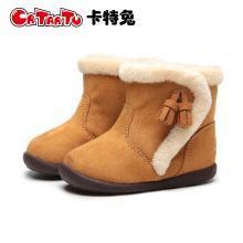 卡特兔2018年冬季新品寶寶雪地靴子冬季加絨男女童短靴兒童鞋