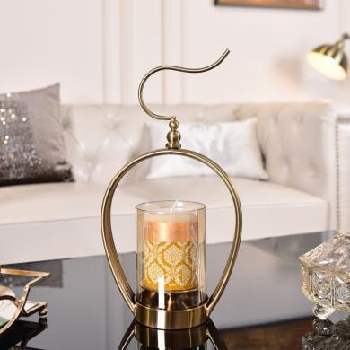 DEVY美式家居客廳鐵藝花瓶插花裝飾品擺件 創意歐式燭臺臥室擺設