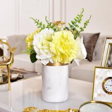 DEVY 北欧花瓶摆件客厅插花陶瓷花器现代简约样板房餐桌软装饰品