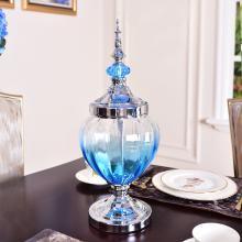 DEVY歐式創意花瓶大號玻璃透明擺件美式客廳干花插花餐桌軟裝家居