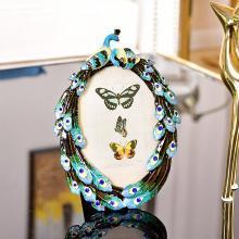 DEVY 歐式創意6寸7寸金屬相框擺臺美式結婚慶婚紗照片框家居擺件