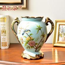 墨菲 歐式田園陶瓷小花瓶擺件美式復古田園創意餐桌面干花插花器