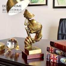 DEVY美式创意人物摆件家居饰品工艺品客厅书房样板房摆设结婚礼物