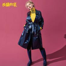 妖精的口袋Y歐貨中長款長袖大衣韓版秋裝2018新款chic風衣外套女J