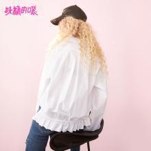 妖精的口袋Y初秋长袖上衣女衬衣2018新款韩版原宿风休闲白衬衫女J