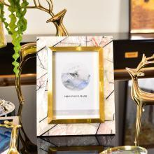 DEVY歐式輕奢創意相框6寸7寸擺臺美式樣板間臥室床頭柜相片框擺件