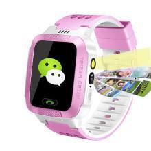 柏族 智能儿童电话手表微聊触摸屏智能定位语音监护儿童智能手表