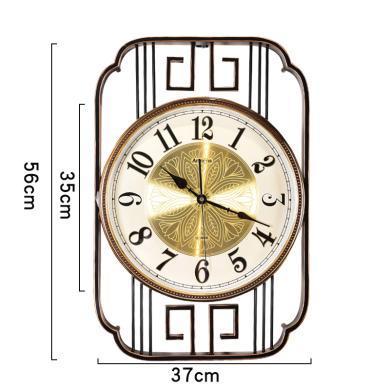 DEVY 新中式掛鐘簡約裝飾鐘表家用客廳靜音創意藝術墻面裝飾時鐘