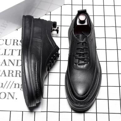牧惠森 牧惠森英倫潮流男士正裝皮鞋透氣布洛克男鞋韓版商務休閑皮鞋ZY12999