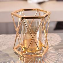 DEVY 欧?#37233;?#24847;家居轻奢金属玻璃烛台摆件现代客厅餐厅软装饰品