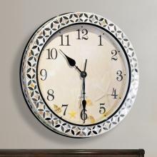 墨菲 美式创意大号贝壳石英钟表挂钟现代别墅静音卧室时钟客厅挂钟