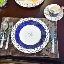 DEVY歐式家居餐桌西式西餐餐具套裝刀叉咖啡杯碟創意陶瓷骨瓷果