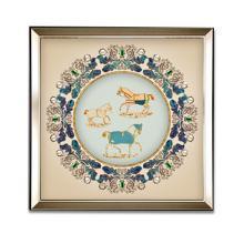 DEVY 美式轻奢客厅装饰马三联挂画 欧式复古餐厅沙发背景墙装饰画