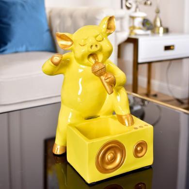DEVY现代简约客厅软装饰品创意门口鞋柜钥匙杂物收纳装饰动物摆件