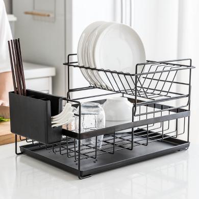 摩登主婦創意瀝水架雙層晾放碗筷碗碟碗盤置物架廚房收納儲物架子