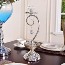 DEVY 欧式创意金属浪漫烛台美式西餐桌蜡烛台浪漫烛光晚餐装饰品