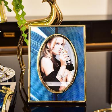 DEVY歐式家居客廳書房臥室床頭相框裝飾品擺設6寸7寸擺臺裝飾擺件