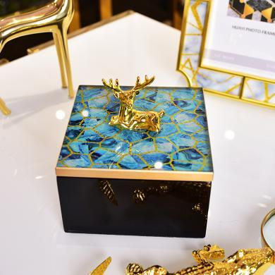 DEVY歐式創意家居臥室梳妝臺收納盒首飾盒擺件樣板房間裝飾品擺設