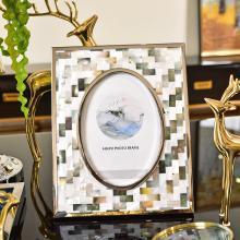 DEVY現代簡約創意相框6寸7寸擺臺歐式樣板間臥室床頭柜相片框
