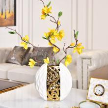 墨菲 现代简约创意镂空电镀花瓶欧式客厅电视柜玄关酒柜工艺品摆件