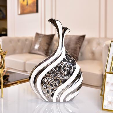 DEVY歐式陶瓷花瓶擺件家居飾品客廳酒柜裝飾品現代簡約電視柜擺設