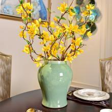 墨菲 新中式古典单色釉陶瓷花瓶摆件客厅家居创意软装花艺套装