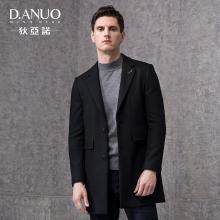 狄亚诺男士夹棉呢子大衣 男时尚修身中长款休闲外套 2018秋冬新款 240851