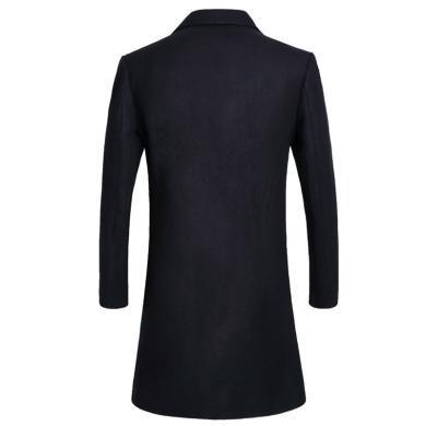墨麦客 男装春秋装手工双面呢羊毛呢子时尚大衣中长款英伦无羊绒风衣外套