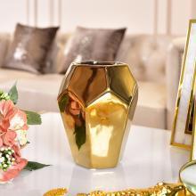 DEVY歐式幾何陶瓷花瓶現代簡約客廳茶幾家居裝飾干花藝插花器擺件