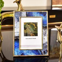 DEVY欧式玻璃摆台美式家居客厅电视床头柜卧室6寸7寸样板房相片框