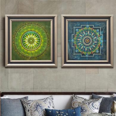 墨菲 新古典做舊客廳背景墻玄關靜物裝飾有框畫掛畫現代簡約壁畫
